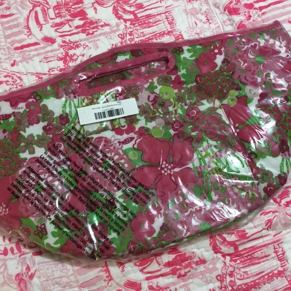 Lilly Pulitzer Handbags - Lilly Pulitzer Beverage Bucket Cooler Beach Rose